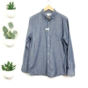 NWOT Sonoma Chambray Blue Button Down Shirt